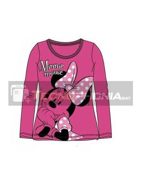 Camiseta manga larga niña Minnie Mouse rosa Talla 6