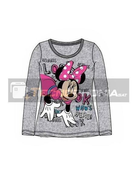 Camiseta manga larga niña Minnie Mouse gris Talla 10