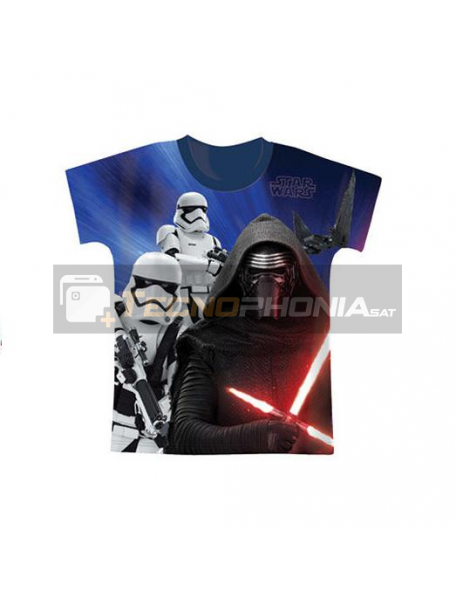 Camiseta niño manga corta Star Wars - Kylo Ren Talla 6