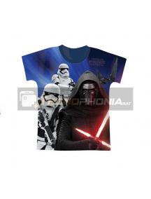 Camiseta niño manga corta Star Wars - Kylo Ren Talla 12