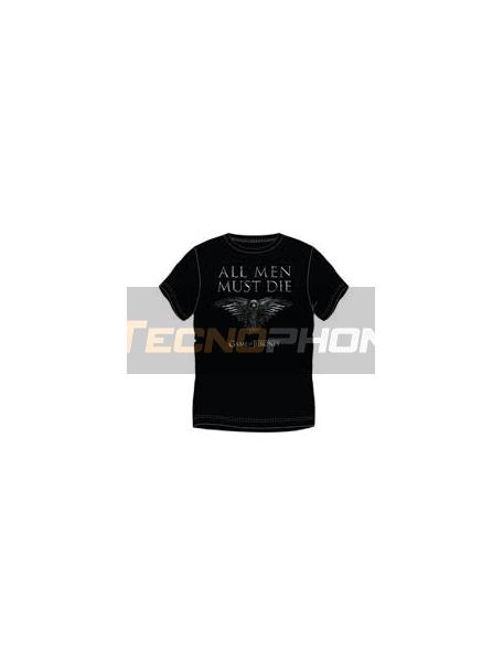 Camiseta manga corta Juego de tronos - All men must die Talla S