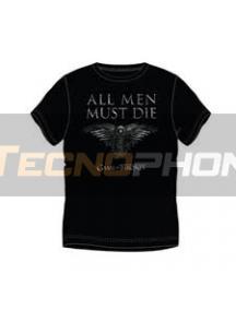 Camiseta manga corta Juego de tronos - All men must die Talla M