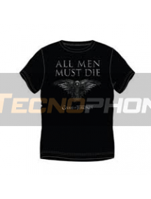 Camiseta manga corta Juego de tronos - All men must die Talla L