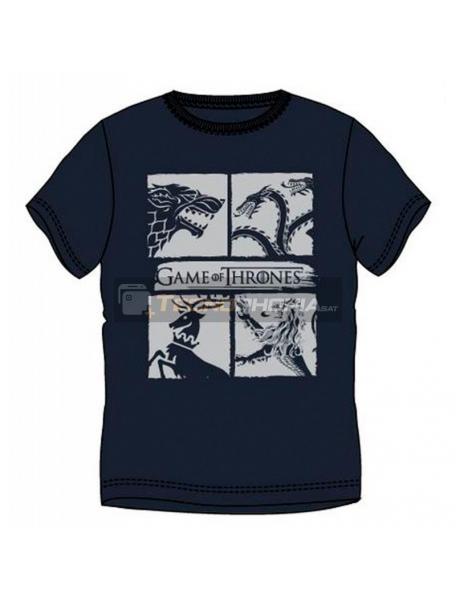 Camiseta Juego de Tronos - Escudos talla L azul