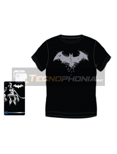 Camiseta adulto manga corta Batman logo Talla M