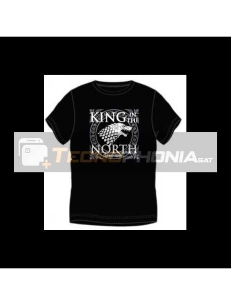Camiseta manga corta Juego de tronos - King in the north Talla XL