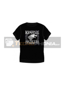 Camiseta manga corta Juego de tronos - King in the north Talla M