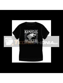 Camiseta manga corta Juego de tronos - King in the north Talla S