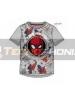 Camiseta niño manga corta Spider-man - cara gris 10 años 140cm