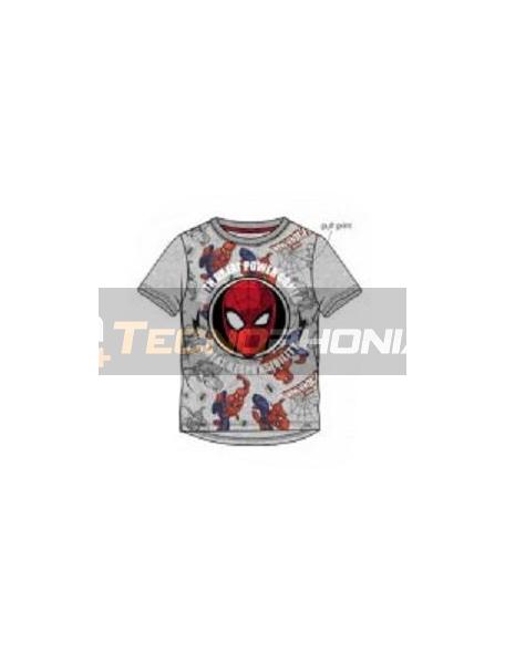 Camiseta niño manga corta Spiderman - cara gris 10 años 140cm