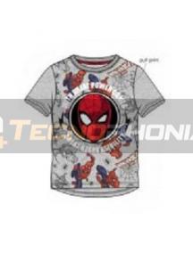 Camiseta niño manga corta Spider-man - cara gris 6 años 116cm