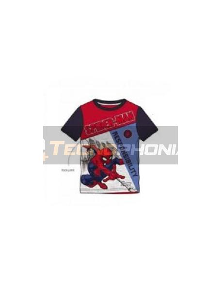 Camiseta niño manga corta Spider-man - Responsability 6 años 116cm