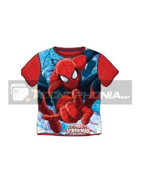 Camiseta niño manga corta Spider-man roja 10 años