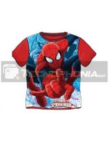 Camiseta niño manga corta Spider-man roja 12 años