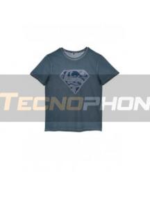 Camiseta adulto manga corta Superman azulada Talla S