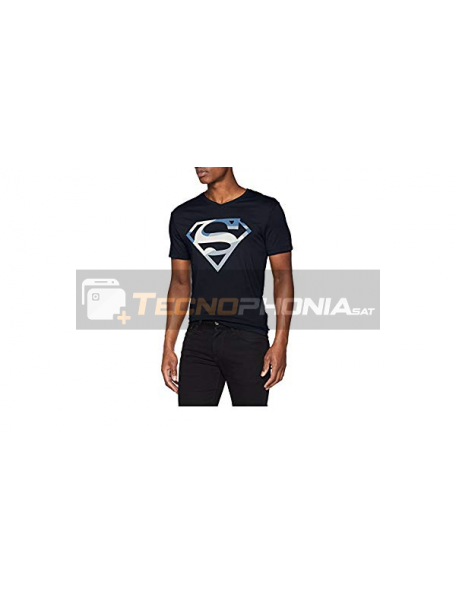 Camiseta adulto manga corta Superman azul marino Talla S