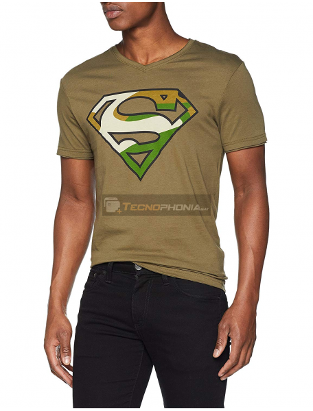 Camiseta adulto manga corta Superman verde Talla M