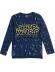 Camiseta niño manga larga Star Wars logo bordado azul RH1149 6 años