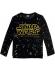 Camiseta niño manga larga Star Wars logo bordado negra RH1149 4 años