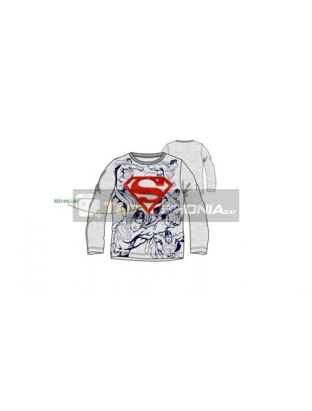 Camiseta niño manga larga Superman logo rojo brillante RH1383 8 años
