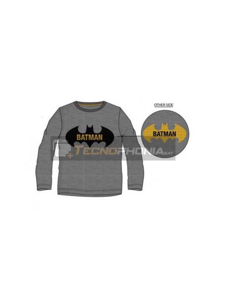 Camiseta manga larga niño Batman lentejuelas reversibles gris 8 años RH1252