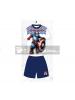 Pijama niño verano Capitán América blanco - azul 14 años