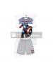 Pijama niño verano Capitán América blanco - gris 8 años