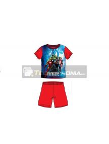 Pijama niño verano Avengers rojo SE7382 4 años