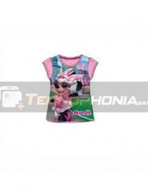 Camiseta niña manga corta Minnie - Gafas Talla 8