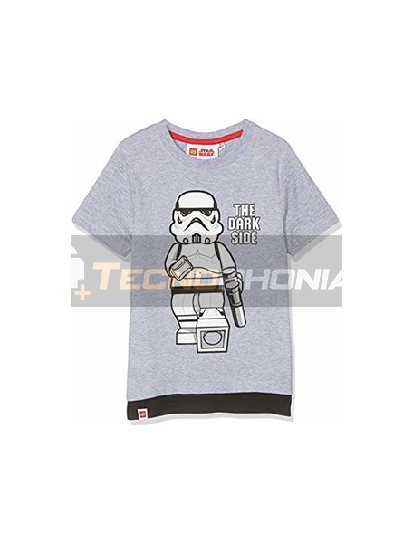 Camiseta niño manga corta Lego Star Wars - The dark side gris 8 años