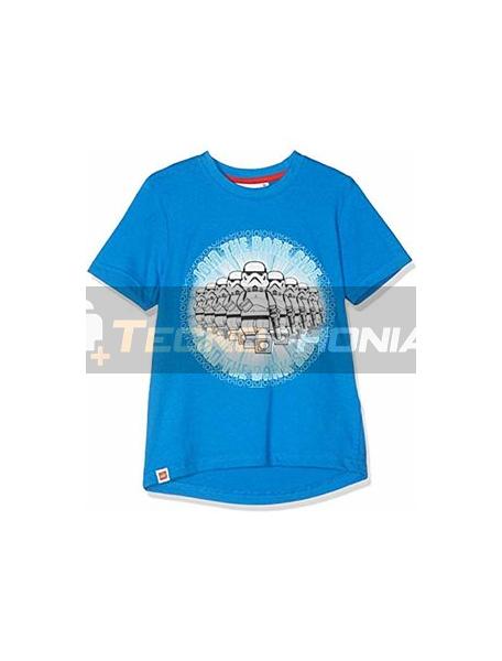 Camiseta niño manga corta Lego Star Wars azul 10 años
