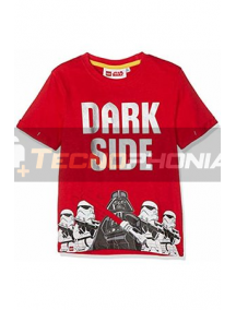 Camiseta niño manga corta Lego Star Wars - Dark side roja 8 años