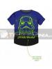 Camiseta niño manga corta Star Wars - Stormtrooper azul - negra