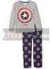 Pijama manga larga niño Capitán América gris - azul 6 años 116cm