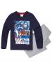 Pijama manga larga niño Capitán América azul - gris 6 años 116cm