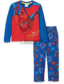 Pijama manga larga niño Spider-man azul estampado 4 años 104cm