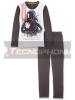 Pijama manga larga niño Star Wars - Drath Vader gris balnco 6 años 116cm
