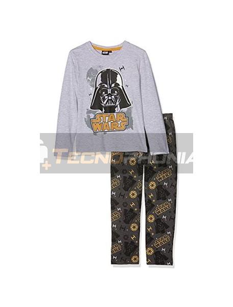 Pijama manga larga niño Star Wars - Drath Vader gris estampado 6 años 116cm