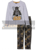 Pijama manga larga niño Star Wars - Drath Vader gris estampado 8 años 128cm