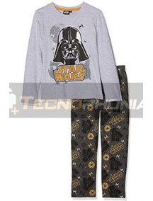 Pijama manga larga niño Star Wars - Drath Vader gris estampado 10 años 140cm