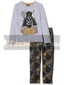 Pijama manga larga niño Star Wars - Drath Vader gris estampado 12 años 152cm