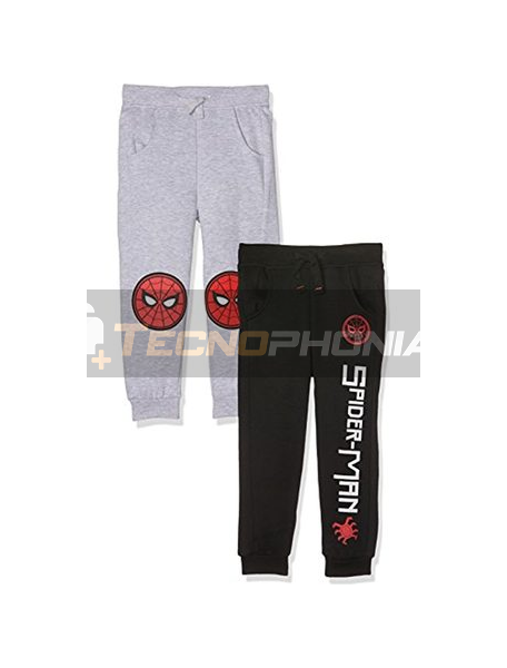 Pantalón chandal niño Spiderman GRIS 8 años 128cm