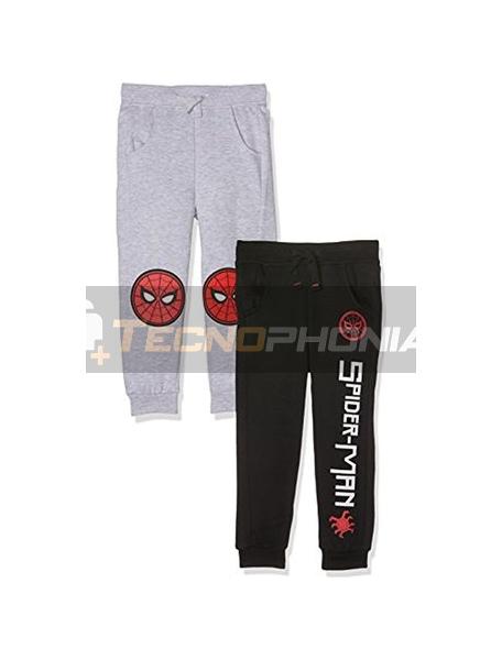 Pantalón chandal niño Spiderman NEGRO 10 años 140cm