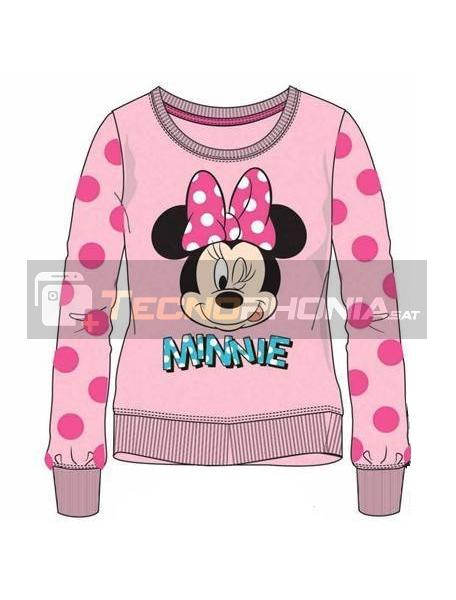 Sudadera Minnie Mouse rosa lunares 6 años