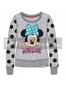 Sudadera Minnie Mouse gris lunares 2 años