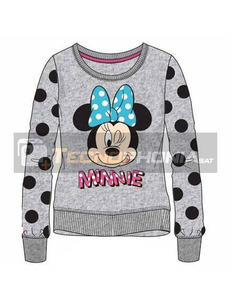 Sudadera Minnie Mouse gris lunares 4 años