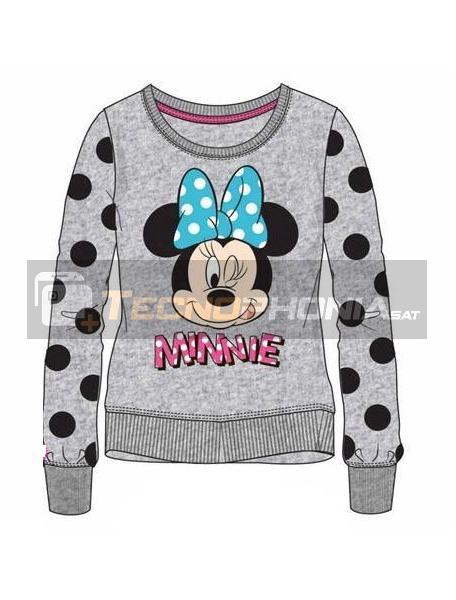 Sudadera Minnie Mouse gris lunares 8 años