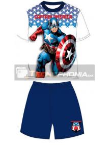 Pijama niño verano Los Vengadores - Avengers - Capitán América azul 14 años 164cm