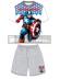 Pijama niño verano Los Vengadores - Avengers - Capitán América gris 12 años 152cm