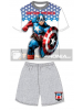 Pijama niño verano Los Vengadores - Avengers - Capitán América gris 8 años 128cm